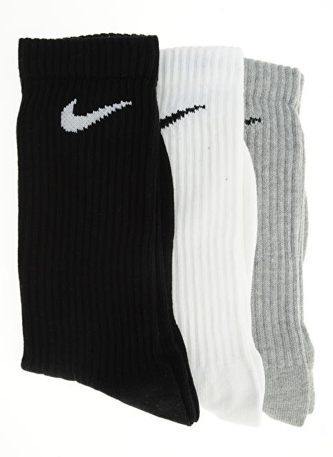 Nike Spor Çorap || 3'lü Çorap Gri